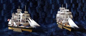 Sailship:Cutty Sark - Model by jolabrodnica