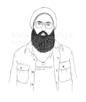 William Fitzsimmons B and W by frozenfingerz