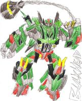 Transformers Movie Bulkhead by SilentNaga
