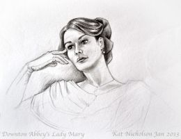 Downton Abbey's Lady Mary by Kat-Nicholson