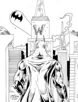 Batman city - inks by BIG-D-ARTiZ