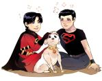 boys and dog by Hephaise