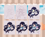 Step by step : Chibi by KyouKaraa