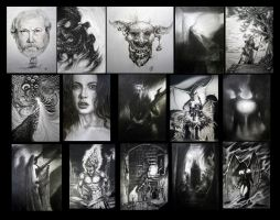 Black and White collage by Wideen