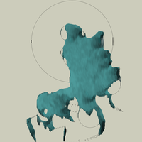 Floating Land Faces by mndg