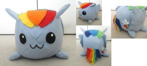 Rainbow Dash Plushie by whiteraven1717
