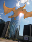 Wild Charizard in Paris by Phi8