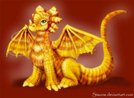 Candy corn Dragon by siwone
