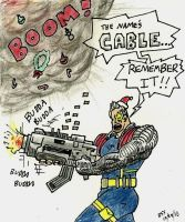 Cable X-Mas Card by venkman3000