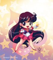 .:Chibi Super Sailor Mars:. by Mako-Fufu