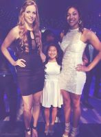 Two Basketball players and short cheerleader by lowerrider
