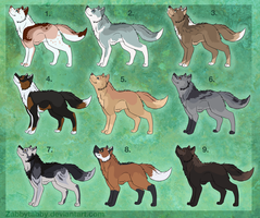 Dog Adoptables by ZabbyTabby