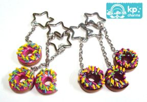donuts keychain by KPcharms