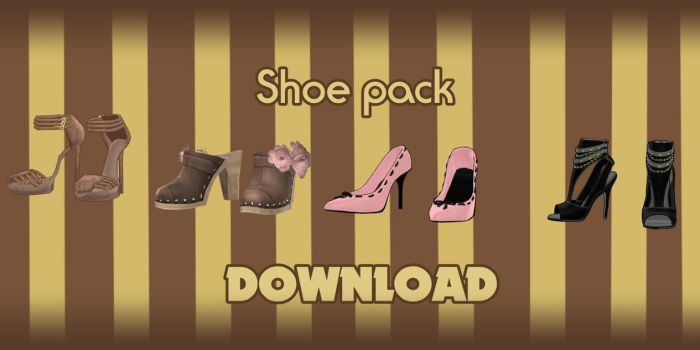 Shoes pack - DOWNLOAD by YamiSweet