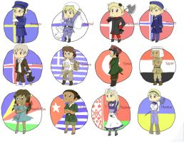 Hetalia Chibis 3 by JessicaBlood