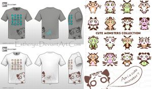 Cute Monsters Design by Estheryu
