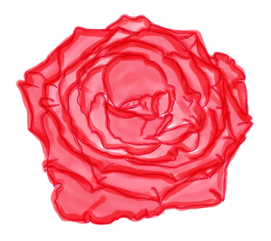 Painted Red Rose by LPhela