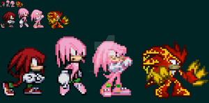 [SONIC] Knuckles forms by SuperShadiw1010