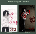 Draw this again / Jeff The Killer by ConnyNee