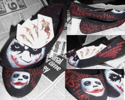 WHY SO SERIOUS? Joker Shoes by fudgemallow