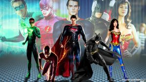 Justice League Wallpaper Widescreen by Timetravel6000v2