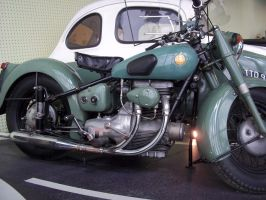 Classic Motorbike, Close up by BonnySaintANdrew