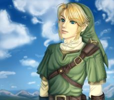 Link in a wide blue sky by Tropic02