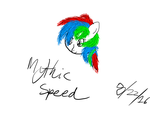 Mythic Speed Fluffy Hair Drawing by MythicSpeed