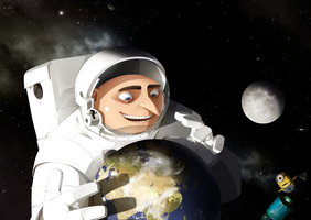 Gru and Earth by Sad-SD