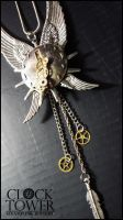 Steampunk Wings Necklace by ClockTowerShop