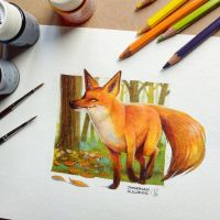 Fox in the Forest by tonton-jojo