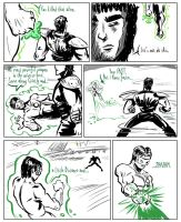 Fist the NorthStar -vs- Green Lantern Kyle 1of3 by ADE-doodles