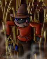 Halloween Artemis scarecrow by o0NeonCola0o