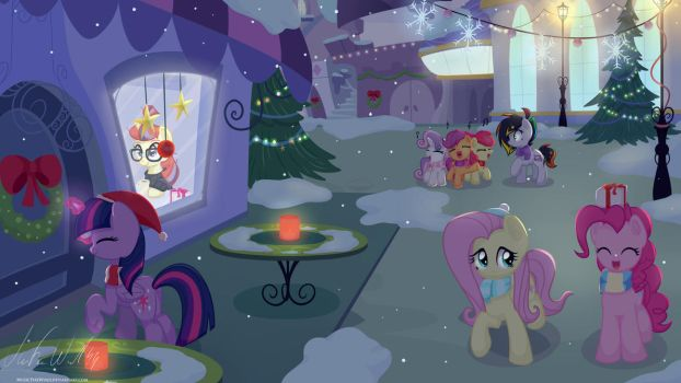 Christmas in Canterlot by MusicFireWind