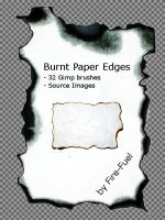 Burnt Paper Gimp Brushes by Fire-Fuel