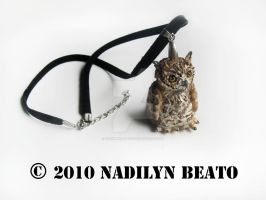 Great Horned Owl Necklace by NadilynBeato