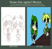 Before and after meme by vampireintherain