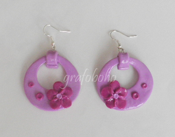 Fimo Earrings by grafoboho