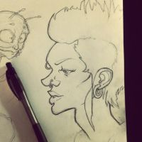 Girl With The Dragon Tattoo Sketch by thousandfoldart