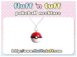 Pokeball Necklace by Fluffntuff