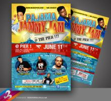 Pajama Jam Flyer by AnotherBcreation
