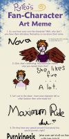 Fanfic Character Meme by Luciferspet