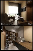 Private house flourite BSD_office by vaD-Endz