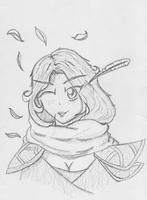 Markswoman of the Wood Sketch by ArchonofFate