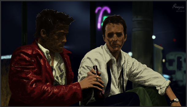 Fight Club (After fight scene) by Anonymio