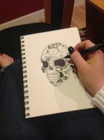 Skull Doodle by Kelly11AtTheDisco