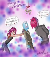 Under the mistletoe XDDD by Hevimell