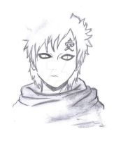 Gaara graphite+charcole style by Amaikoibito