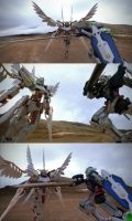 Exia vs. Custom Wing by taowangus