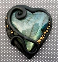 Labradorite Heart Pendant by MandarinMoon